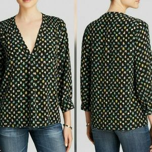 Joie Aceline silk insect print blouse